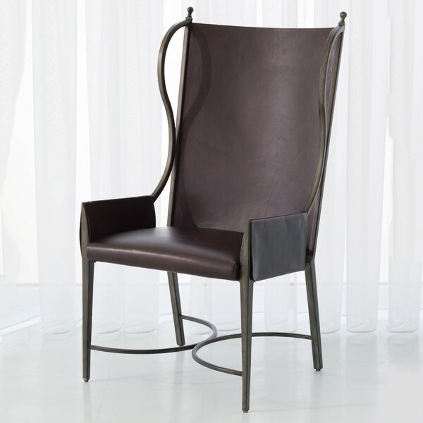 Genuine Leather Upholstered Dining Chair by Global Views Global Views