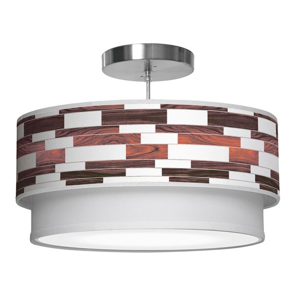 Davy 2 - Light Shaded Drum Chandelier by Corrigan Studio Corrigan Studio