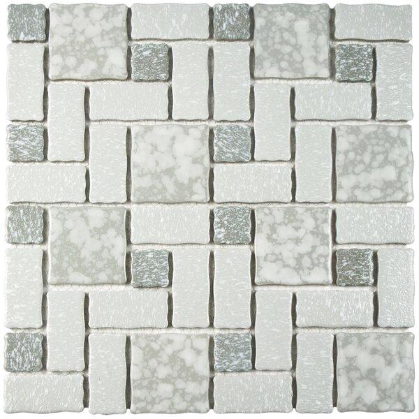 Pallas Random Sized 11.75 x 11.75 Porcelain Mosaic Tile in Gray by EliteTile