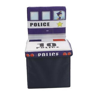 Compare Children's Favorite Cartoon Storage Stool/Chair Police Vehicle Toy Box By Mind Reader