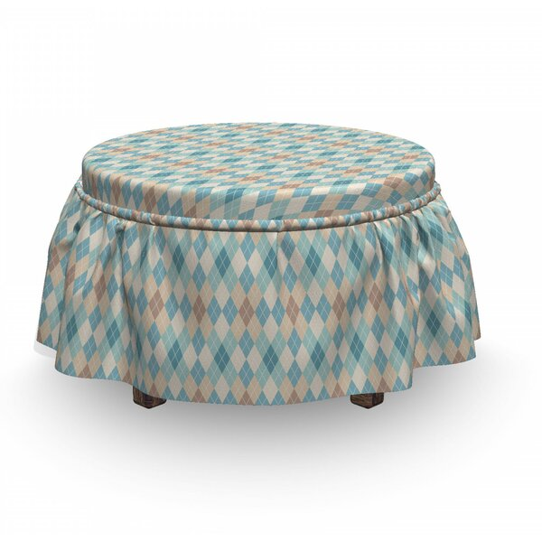 Rhombus Ottoman Slipcover (Set Of 2) By East Urban Home
