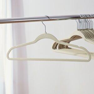 Wayfair Basics Velvet Touch Non-Slip Hanger (Set of 50)