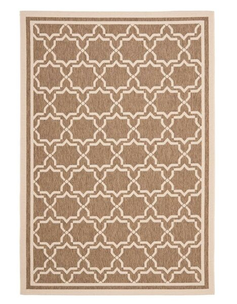 Short Brown / Bone Indoor/Outdoor Rug by Winston Porter