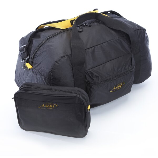 A.Saks Folding Carry-On Duffel with Pouch by A.Saks