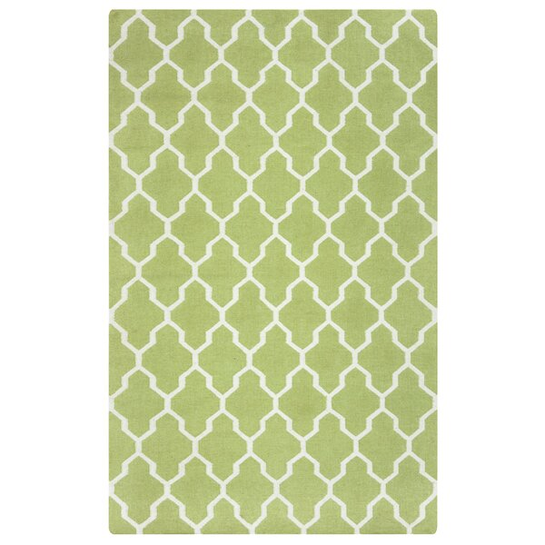 Hand-Woven Light Green Area Rug by The Conestoga Trading Co.