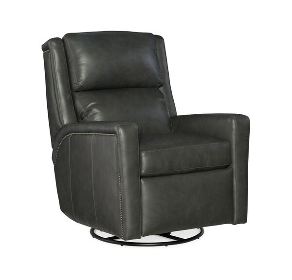 Norman Leather Power Wall Hugger Recliner with Articulating Headrest by Bradington-Young