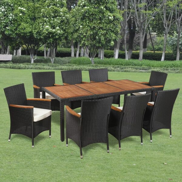 Uttoxeter Outdoor 9 Piece Dining Set with Cushions by Ivy Bronx