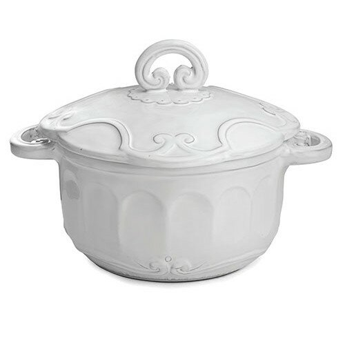 Bella Bianca Round Casserole with Lid by Arte Italica