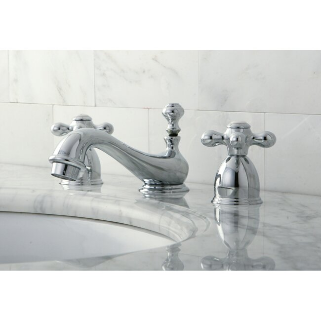 Kingston Brass Restoration Mini Widespread Bathroom Sink Faucet with ...
