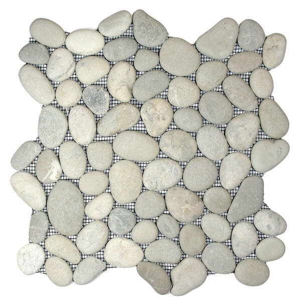 Amazon Random Sized Natural Stone Mosaic Tile in Matte Cloud by CNK Tile