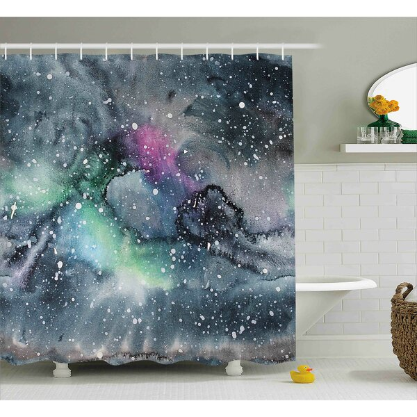 Floriana Celestial Cosmic Shower Curtain by Ebern Designs