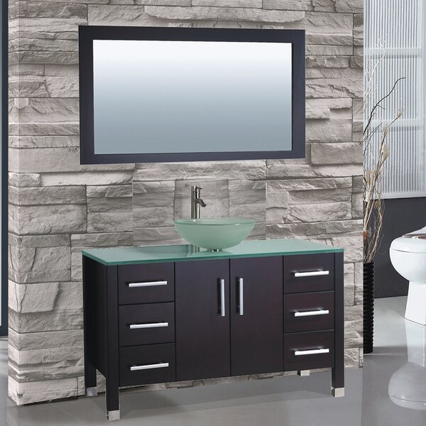 Prado 48 Single Sink Bathroom Vanity Set with Mirror by Orren Ellis