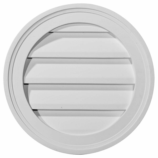 12H x 12W Round Gable Vent Louver by Ekena Millwork