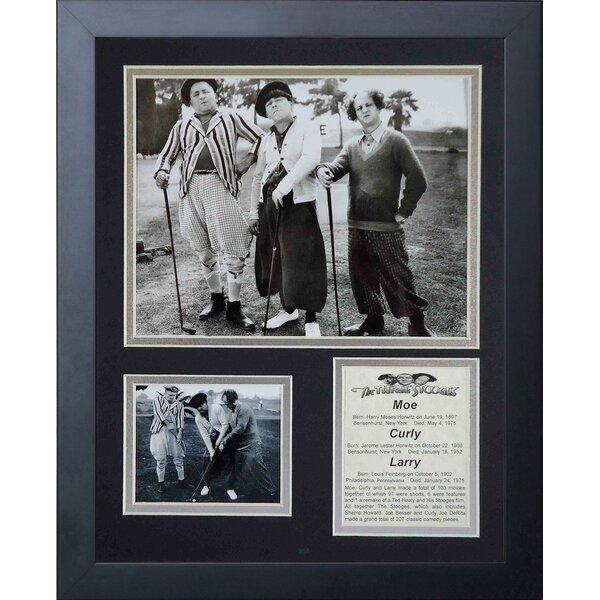 Three Stooges Golf Framed Photographic Print by Legends Never Die