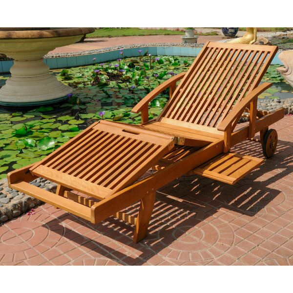 Joaquin Balau Outdoor Chaise Lounge by Beachcrest Home