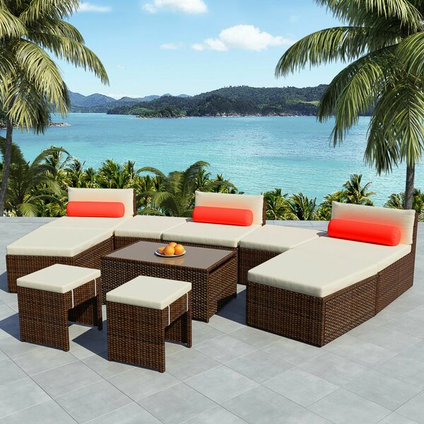 Steyning Modular Garden 10 Piece Sectional Seating Group with Cushions by Ivy Bronx