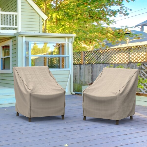Tan Tweed Outdoor Chair Cover by Freeport Park