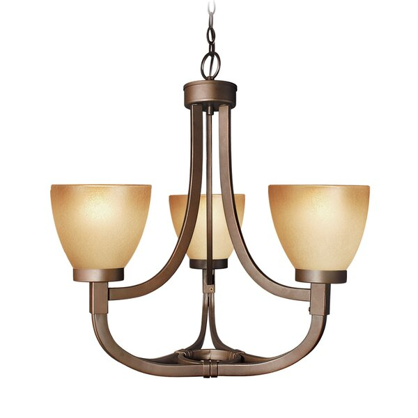 Wayman 3-Light Shaded Empire Chandelier By Woodbridge Lighting