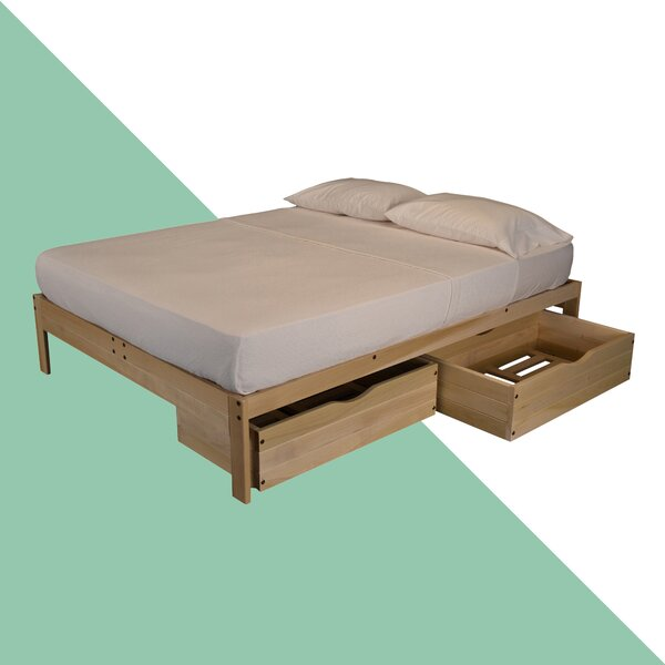 Storage Solid Wood Platform Bed By Hashtag Home