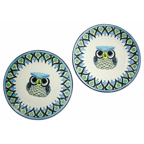 Blanton Owl Dinner Plate Sets (Set of 2) by Bungalow Rose