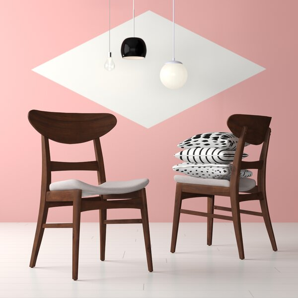 Chisdock Solid Wood Dining Chair (Set of 2) by Hashtag Home