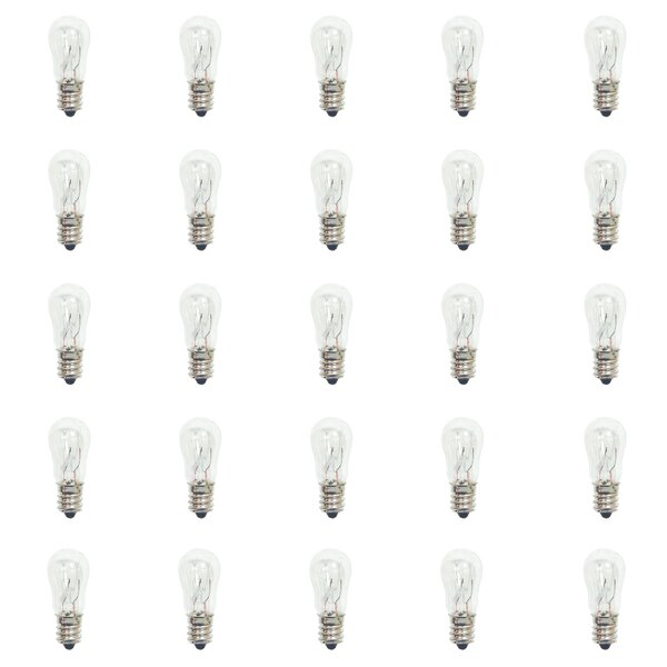 3W E12 Dimmable Incandescent Light Bulb (Set of 25) by Bulbrite Industries