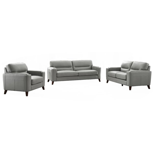 Lovelady 3 Piece Leather Living Room Set By Ivy Bronx