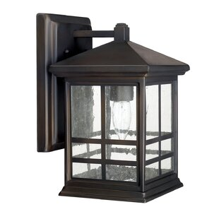 Reviews Macy 1-Light Outdoor Wall Lantern By Latitude Run