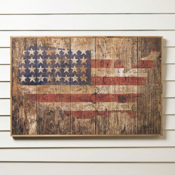 American Flag Graphic Art Print on Paper by Birch Lane™