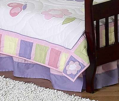 Butterfly Toddler Bed Skirt by Sweet Jojo Designs