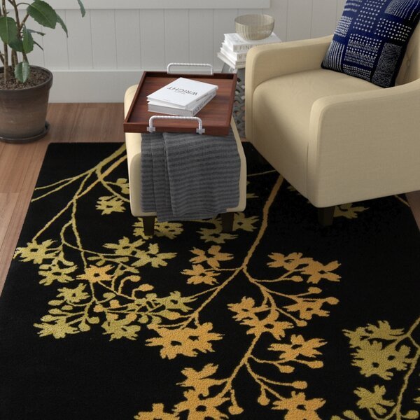 Armstrong Black Area Rug by Winston Porter