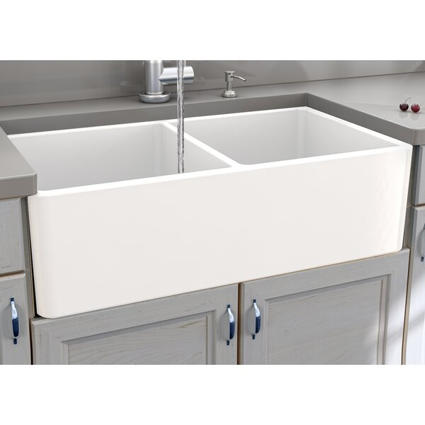 Cape 33 L x 18 W Double Basin Farmhouse Kitchen Si