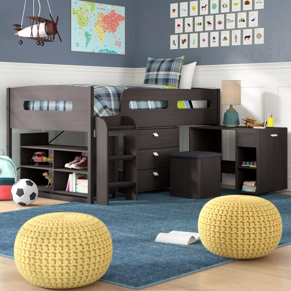 Deion Twin Loft Bed with Storage by Viv + Rae