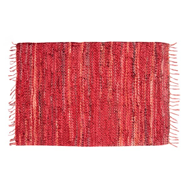 Recio Hand-Woven Red Area Rug by Loon Peak