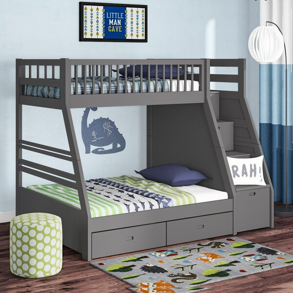 Mimi Twin Over Full Bunk Bed With Drawers By Harriet Bee by Harriet Bee #1