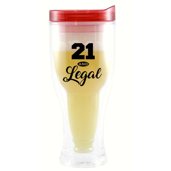 Biddlesden 21 & Legal 10 oz. Beer Tumbler by Winston Porter
