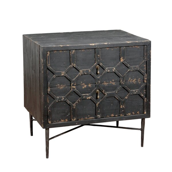 Edwal 2 Drawer Nightstand by 17 Stories