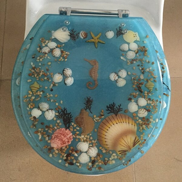 Sea Treasure Elongated Toilet Seat by Daniels Bath