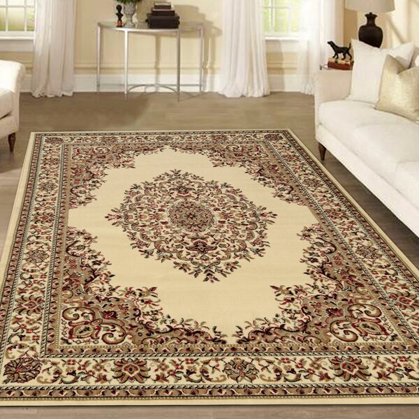 Northgate Medallion Ivory Area Rug by Astoria Grand