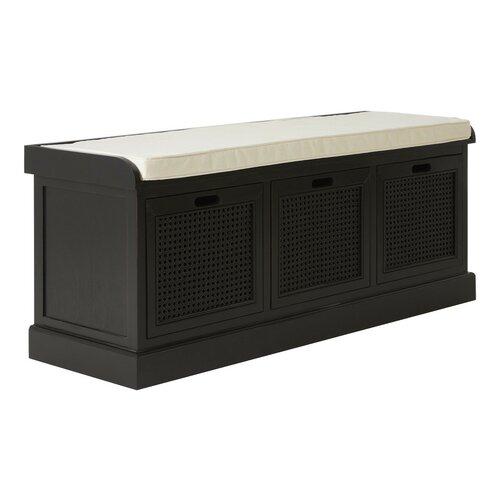 Ophelia Storage Bench Fernleaf Colour: Black