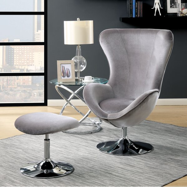 Ravenscourt Swivel Lounge Chair and Ottoman by Orren Ellis Orren Ellis