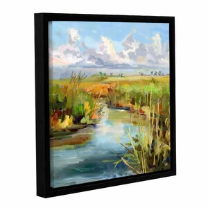 'Afternoon Skies' Framed Painting by Rosecliff Heights