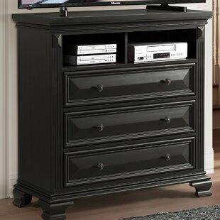 Banwell 3 Drawer Media Chest Canora Grey