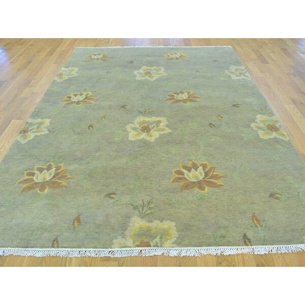 One-of-a-Kind Beverly Hand-Knotted Grey Wool/Silk Area Rug by Isabelline