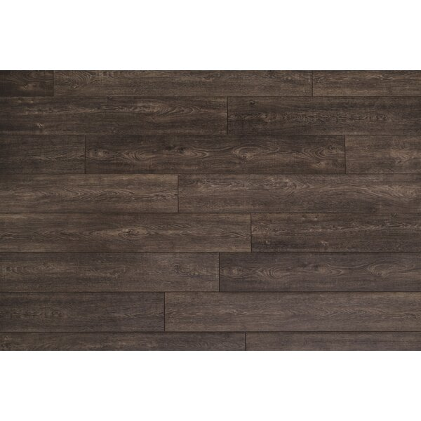 Restoration Wide Plank 8'' x 51'' x 12mm Oak Laminate Flooring in Peppercorn by Mannington