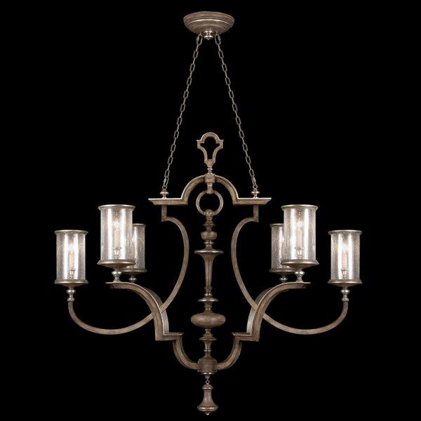 6-Light Shaded Chandelier by Fine Art Lamps