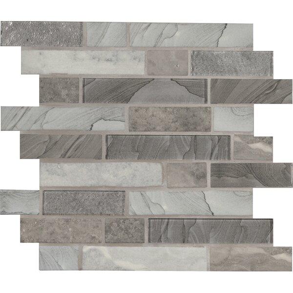 Tarvos Random Sized Glass Mosaic Tile in Gray by MSI