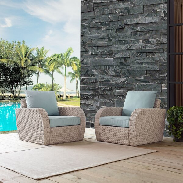 Boomer Patio Chairs with Cushions by Highland Dunes