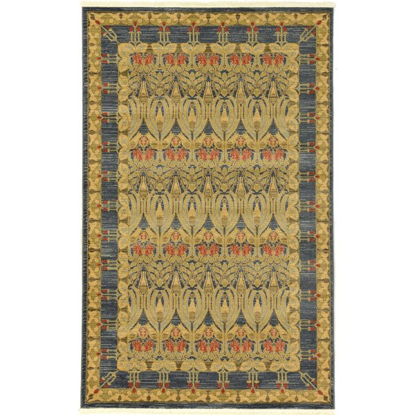 Fonciere Navy Blue Area Rug by World Menagerie