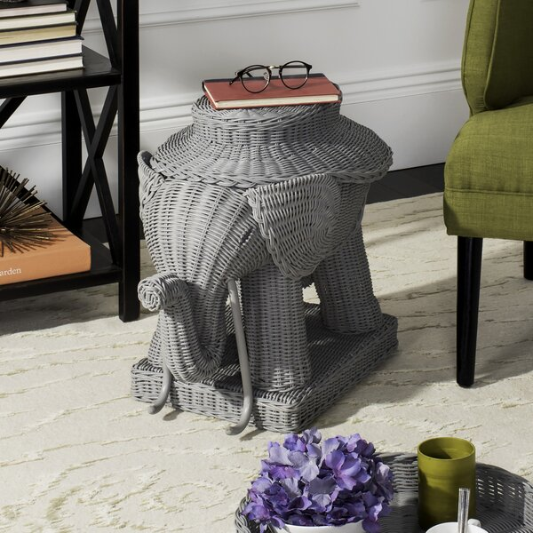 Bungalo Tray Top Figurine End Table By World Menagerie